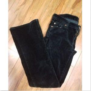 7 For All Mankind Black Velvet Pants Size 26 x 32